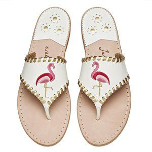 Jack Rogers 1960 White Flamingo Sandals 9.5M